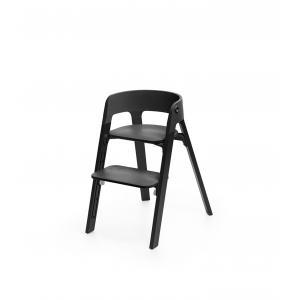Stokke - BU180 - Stokke chaise enfant Steps (Chêne noir, assise noir) (418296)