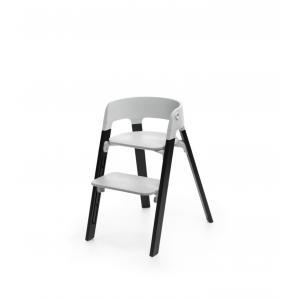 Stokke - BU189 - Stokke Steps chaise qui évolue avec l'enfant (Chêne noir, assise gris) (418314)