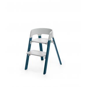 Stokke - BU190 - Steps Stokke, La chaise polyvalente pour enfant (Hêtre bleu nuit, assise gris) (418316)