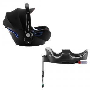Britax Roemer - 2000032892 - Pack siège-auto bébé BABY-SAFE² i-Size avec BASE FLEX Cool Flow – Black (418480)
