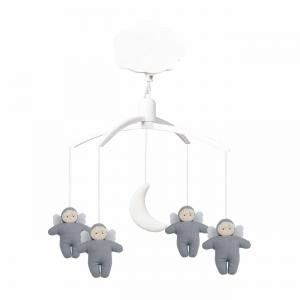 Trousselier - VM1144 63 - Mobile Musical Anges - Lin Bleu Gris (418650)