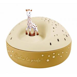 Trousselier - 5161 - Veilleuse - Projecteur d'Etoiles Musical Sophie la Girafe© 12 Cm - Piles Inclues (418674)