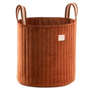 Nobodinoz - N113326 - panier à jouets Savanna velours coton wild brown (418680)