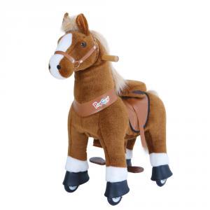 Ponycycle - U424 - Cheval marron clair et bas des jambes blancs grand modèle - 84x40x97 cm (418690)