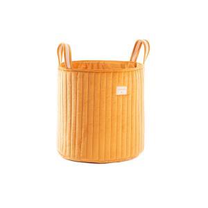 Nobodinoz - N113302 - Sac à jouets Savanna velours coton farniente yellow (418760)