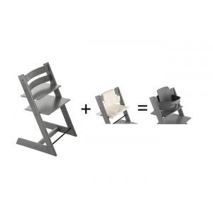 Stokke - 562100 - Pack chaise Tripp Trapp grise avec accessoire (418778)