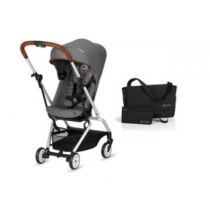 Cybex - BU262 - Pack Eezy S Twist Denim- Manhattan Grey et sac (418780)