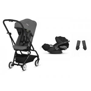 Cybex - BU256 - Pack poussette Eezy S twist Manhattan Grey et siège-auto Cloud Z (418792)