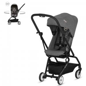 Cybex - BU255 - Pack travel-system poussette Eezy S twist Manhattan Grey avec Cloud Z Plus (418794)