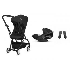 Cybex - BU254 - Pack travel-system Cybex Eezy S twist Lavastone black et Cloud Z (418796)