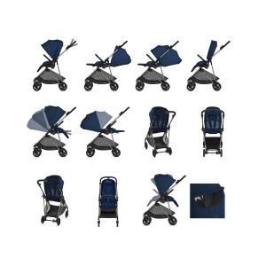 Cybex - 520002067 - Poussette MELIO TAUPE Navy Blue - navy blue (419040)