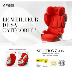 Cybex - 520002399 - Siège-auto SOLUTION Z I-FIX PLUS Autumn Gold - burnt red (419242)