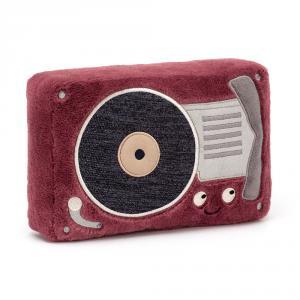 Jellycat - WIG4RP - Peluche lecteur de disque Wiggedy - L = 5 cm x l = 16 cm x H =24 cm (420178)