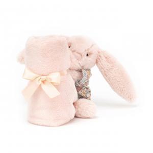 Jellycat - BTBB4S - Doudou plat lapin Bedtime Blossom Blush Soother - L = 16 cm x l = 34 cm x H =34 cm (420200)