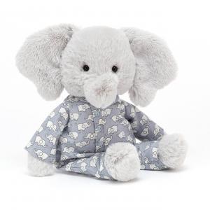 Jellycat - BTE4ES - Peluche éléphant Bedtime - L = 5 cm x l = 9 cm x H =23 cm (420204)