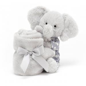 Jellycat - BTE4S - Peluche éléphant Bedtime Soother - L = 16 cm x l = 34 cm x H =34 cm (420206)