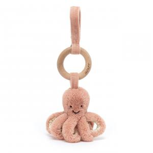 Jellycat - OD4W - Odell Octopus Wooden Ring Toy - 21 cm (420210)