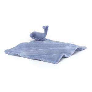 Jellycat - WIL4S - Doudou baleine Wilbur - L = 10 cm x l = 34 cm x H =34 cm (420220)