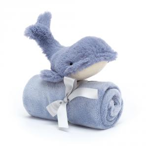 Jellycat - WIL4S - Wilbur Whale Soother - 34 cm (420220)