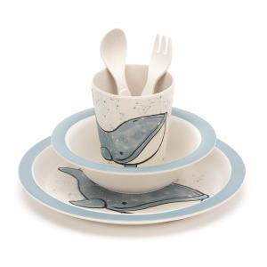 Jellycat - WIL4BAM - Coffret repas bambou baleine Wilbur - L = 12 cm x l = 7 cm x H =25 cm (420224)