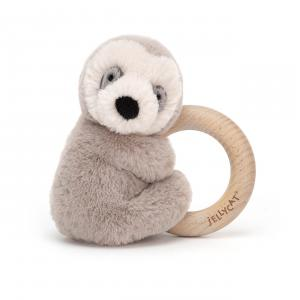 Jellycat - SHO4WS - Shooshu Sloth Wooden Ring Toy - 14 cm (420254)