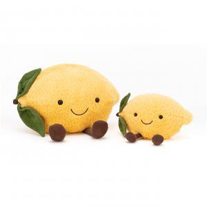 Jellycat - A6L - Peluche citron Amuseable - L = 10 cm x l = 18 cm x H =12 cm (420546)