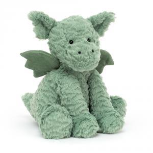 Jellycat - FW6DG - Peluche dragon Fuddlewuddle - L = 8 cm x l = 10 cm x H =23 cm (420576)