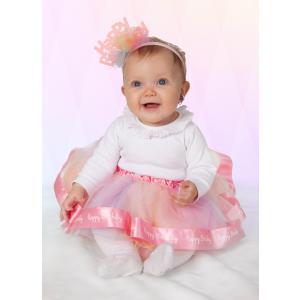 Great Pretenders - 46811 - Jupe & serre-tête bébé 'Happy Birthday', taille EU 80-92 - 12-24 mois (421062)