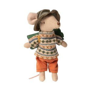 Maileg - 16-0735-00 - Hiker mouse, Big brother - Taille 12 cm - à partir de 36 mois (421658)