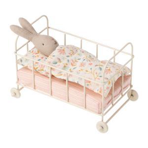 Maileg - 11-0108-00 - Baby cot metal,  Micro  - Taille 10,5 cm - à partir de 36 mois (421702)