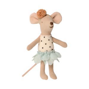 Maileg - 16-0726-01 - Little Miss Mouse in suitcase, Little sister - Taille 10 cm - de 0 à 36 mois (421750)