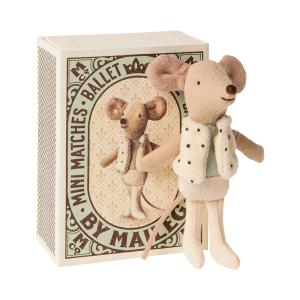 Maileg - 16-0725-01 - Dancer in matchbox, Little brother mouse - Taille 10 cm - de 0 à 36 mois (421760)