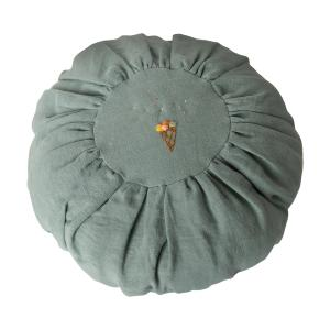 Maileg - 19-9527-00 - Cushion, Round - Dusty blue - Taille 25 cm (421798)