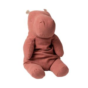 Maileg - 16-0924-00 - Safari friends, Large Hippo - Dusty Plum - Taille 60 cm - de 0 à 36 mois (421816)