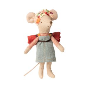 Maileg - 16-0736-00 - Hiker mouse, Big sister - Taille 12 cm - à partir de 36 mois (421848)