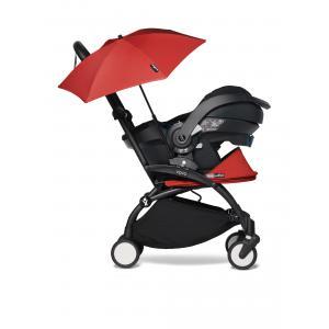 Babyzen - BU352 - Poussette naissance YOYO2 rouge combiné avec siège auto iZi go Modular et ombrelle (cadre noir 0+) (421884)
