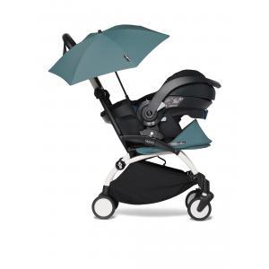 Babyzen - BU337 - Poussette compacte YOYO 2 aqua avec siège auto bébé iZi Go Modular et ombrelle (cadre blanc 0+) (421894)