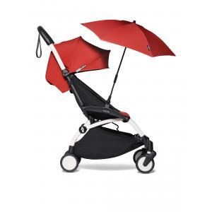 Babyzen - BU379 - Poussette YOYO² 6+ ombrelle Rouge - cadre blanc (421908)