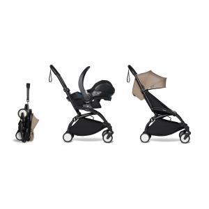 Babyzen - BU335 - YOYO 2 poussette pratique taupe et siège auto bébé iZi Go Modular - noir 6+ (421924)