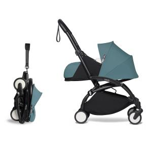 Babyzen - BU364 - Pousette compacte YOYO2 et ombrelle aqua noir 0+ (421932)