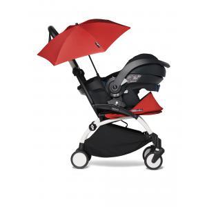 Babyzen - BU343 - Poussette naissance YOYO2 rouge avec siège auto iZi Go Modular et ombrelle (cadre blanc 0+) (421936)