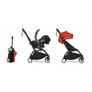 Babyzen - BU334 - Poussette pratique et légère YOYO 2 rouge avec siège auto bébé iZi Go Modular - noir 6+ (421942)