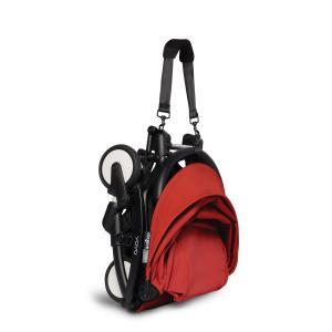 Babyzen - BU334 - Poussette YOYO² 6+ Rouge, siège auto - cadre noir (421942)