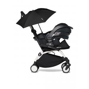 Babyzen - BU341 - YOYO2 poussette compacte avec siège auto pour bébé iZi Go Modular noir et ombrelle (cadre blanc 0+) (421950)