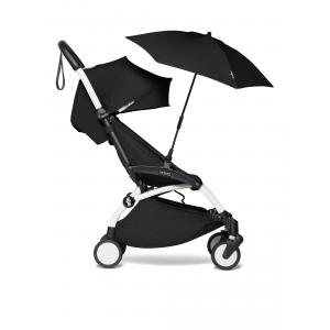 Babyzen - BU377 - Poussette YOYO² 6+ ombrelle Noir - cadre blanc (421958)