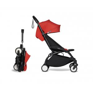 Babyzen - BU460 - Poussette YOYO² 6+ Rouge, repose-pieds - cadre noir (421972)