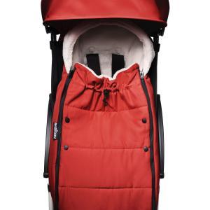 Babyzen - BU433 - Poussette YOYO² 0+ 6+ chancelière Rouge - cadre blanc (422026)