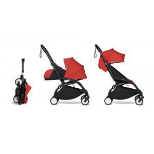 Babyzen - BU406 - Poussette YOYO² 0+ 6+ ombrelle Rouge - cadre noir (422080)