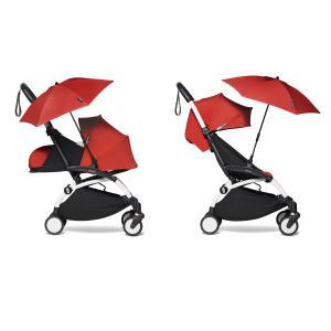 Babyzen - BU397 - Poussette YOYO² 0+ 6+ ombrelle Rouge - cadre blanc (422098)