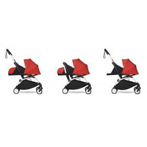 Babyzen - BU469 - Poussette maniable et légère YOYO2 Babyzen rouge et planche à roulettes blanc 0+ (422122)